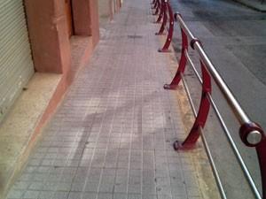 Acera de pavimento hidraúlico de hormigón