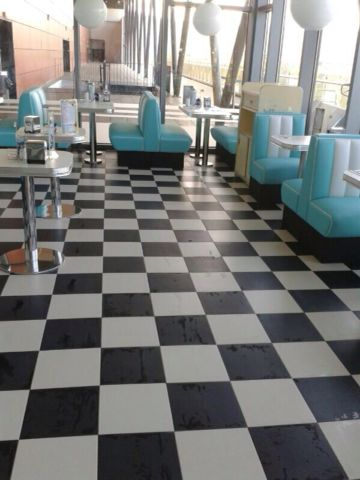 Gres porcelánico restaurante