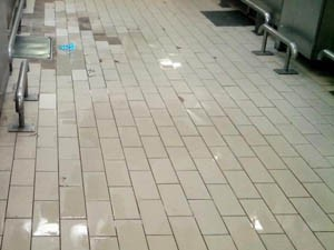 Hospital kitchen floor